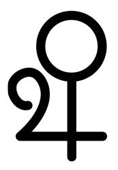 Alchemical Symbol for Bronze